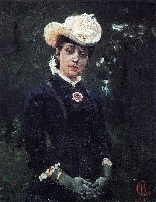 Портрет Е. К. Дерягиной. 1879. Василий Иванович Суриков