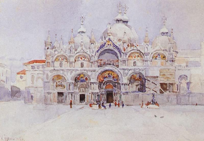 Venice. Cathedral of St. Mark. 1884. Vasily Ivanovich Surikov