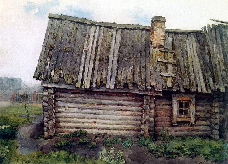 hut. 1873. Vasily Ivanovich Surikov