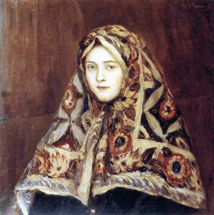 Anfisa. 1900 e. Vasily Ivanovich Surikov