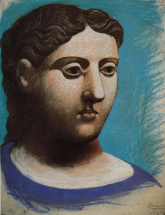 1921 TИte de femme3. Pablo Picasso (1881-1973) Period of creation: 1919-1930