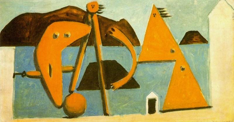 1928 Baigneuses sur la plage. Пабло Пикассо (1881-1973) Период: 1919-1930