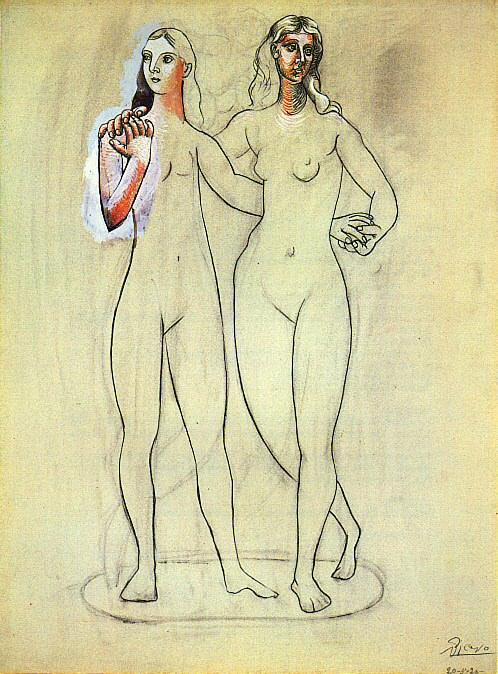 1920 Deux nus fВminins2. Pablo Picasso (1881-1973) Period of creation: 1919-1930