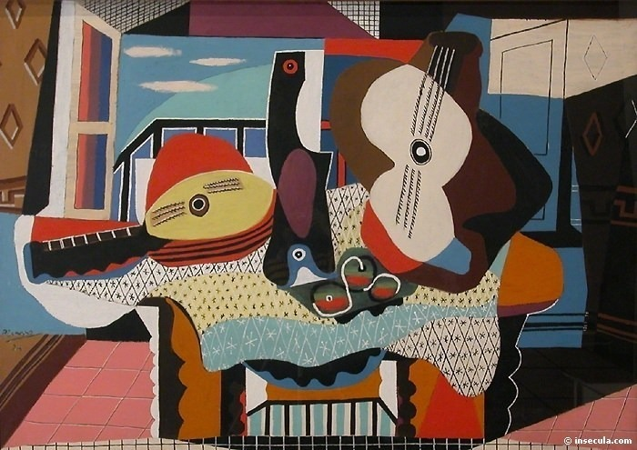 1924 Mandoline et guitare. Пабло Пикассо (1881-1973) Период: 1919-1930