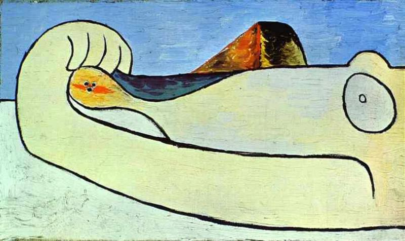 1929 Femme Вtendue sur la plage. Pablo Picasso (1881-1973) Period of creation: 1919-1930