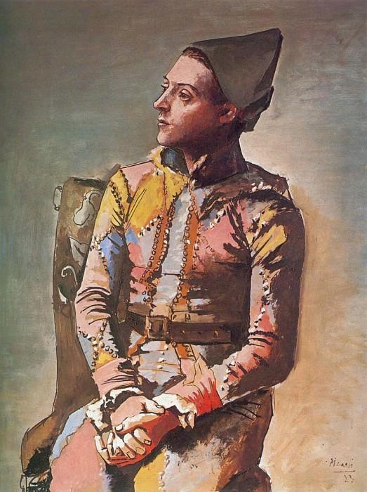 1923 Arlequin assis (Le peintre Jacinto Salvado)1. Pablo Picasso (1881-1973) Period of creation: 1919-1930