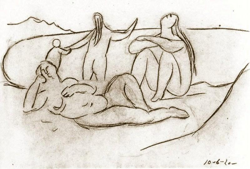 1920 Baigneuses et enfants. Пабло Пикассо (1881-1973) Период: 1919-1930