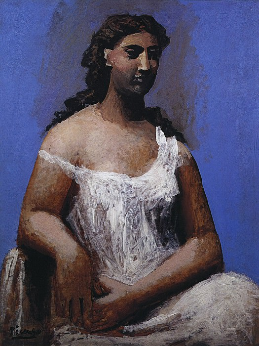 1923 Femme assise en chemise. Pablo Picasso (1881-1973) Period of creation: 1919-1930