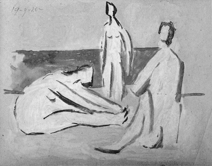 1920 Trois baigneuses4. Пабло Пикассо (1881-1973) Период: 1919-1930