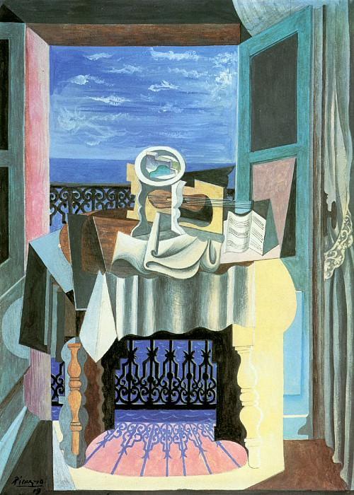 1919 Nature morte devant une fenИtre Е Saint-RaphaЙl. Pablo Picasso (1881-1973) Period of creation: 1919-1930