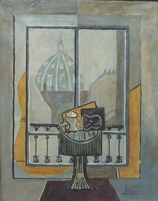 1919 Nature morte devant une fenИtre2. Pablo Picasso (1881-1973) Period of creation: 1919-1930