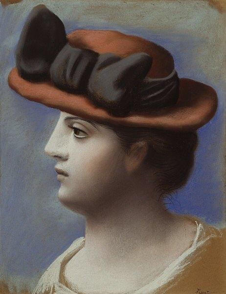 1921 Jeune femme au chapeau rouge. Пабло Пикассо (1881-1973) Период: 1919-1930