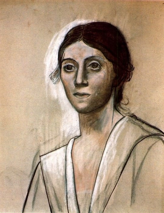 1921 Portrait dOlga1. Pablo Picasso (1881-1973) Period of creation: 1919-1930