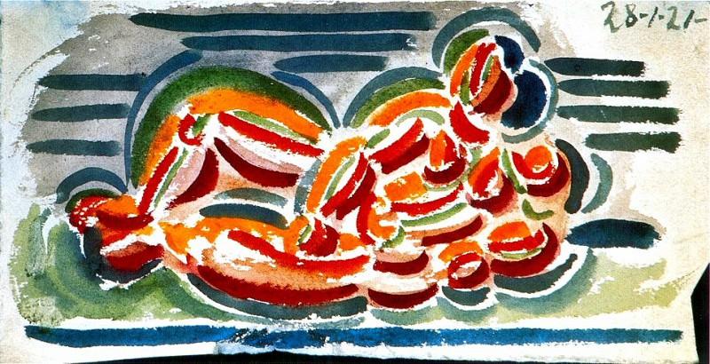 1921 Nu allongВ. Pablo Picasso (1881-1973) Period of creation: 1919-1930