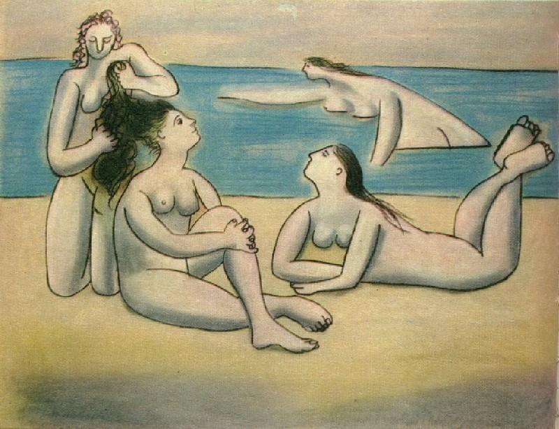 1920 Quatre baigneuses. Пабло Пикассо (1881-1973) Период: 1919-1930
