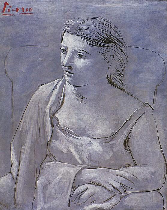 1922 Femme assise dans un fauteuil. Pablo Picasso (1881-1973) Period of creation: 1919-1930