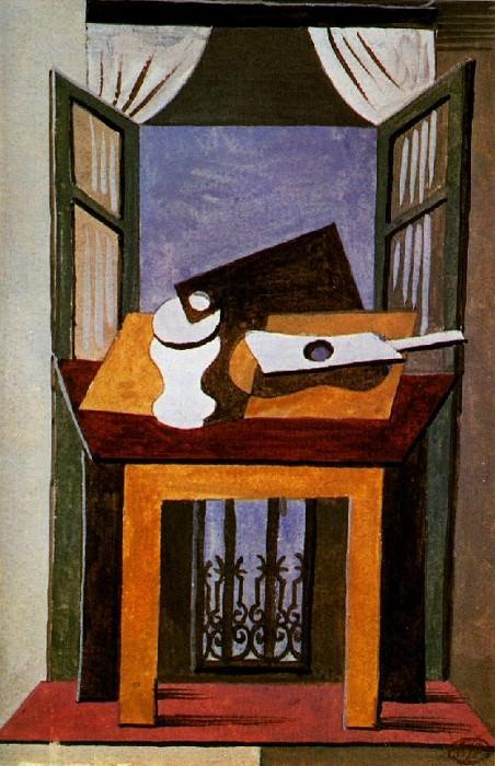 1919 Nature morte sur une table devant une fenИtre ouverte. Pablo Picasso (1881-1973) Period of creation: 1919-1930