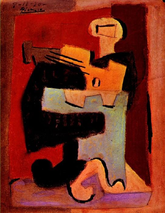 1920 Homme Е la mandoline. Pablo Picasso (1881-1973) Period of creation: 1919-1930