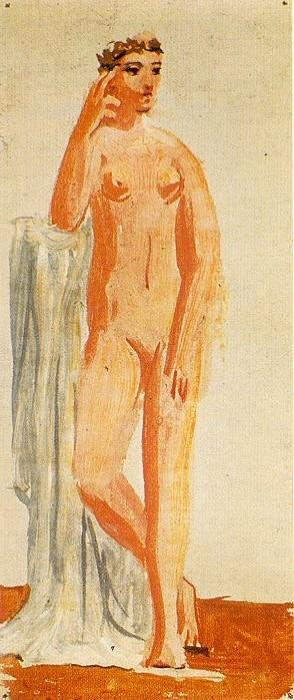 1921 Femme nue debout accoudВe. Pablo Picasso (1881-1973) Period of creation: 1919-1930