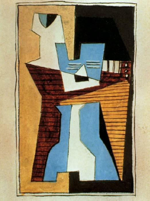1920 Guitare et compotier sur une table. Pablo Picasso (1881-1973) Period of creation: 1919-1930