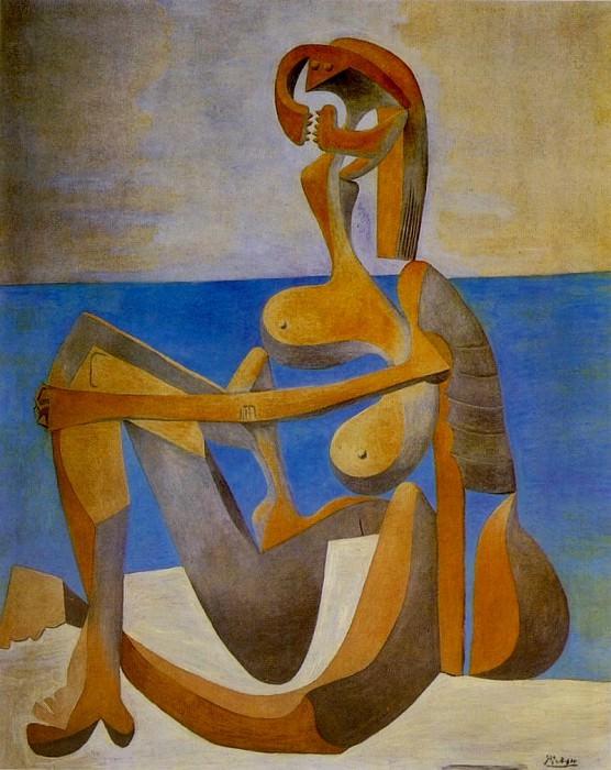 1930 Baigneuse assise au bord de la mer. Pablo Picasso (1881-1973) Period of creation: 1919-1930