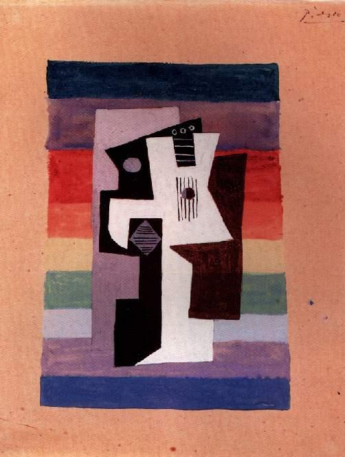 1920 Guitare et compotier. JPG. Пабло Пикассо (1881-1973) Период: 1919-1930