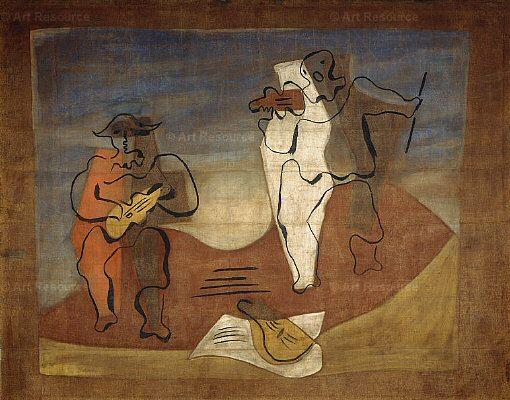1924 Rideau pour le ballet Mercure. Пабло Пикассо (1881-1973) Период: 1919-1930 (La musique)