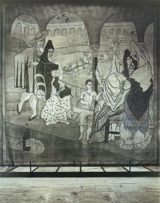 1919 Le rideau de scКne (Le Tricorne). Пабло Пикассо (1881-1973) Период: 1919-1930