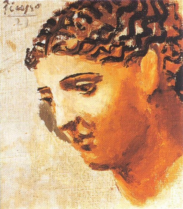 1921 TИte de femme4. Pablo Picasso (1881-1973) Period of creation: 1919-1930