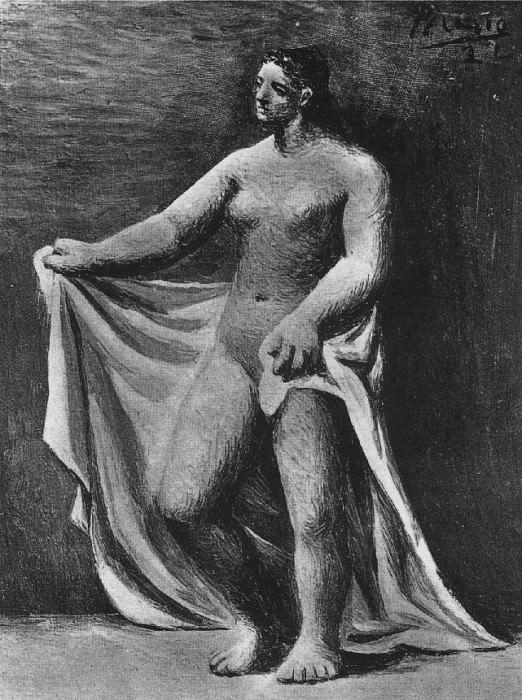 1922 Nu Е la draperie. Pablo Picasso (1881-1973) Period of creation: 1919-1930