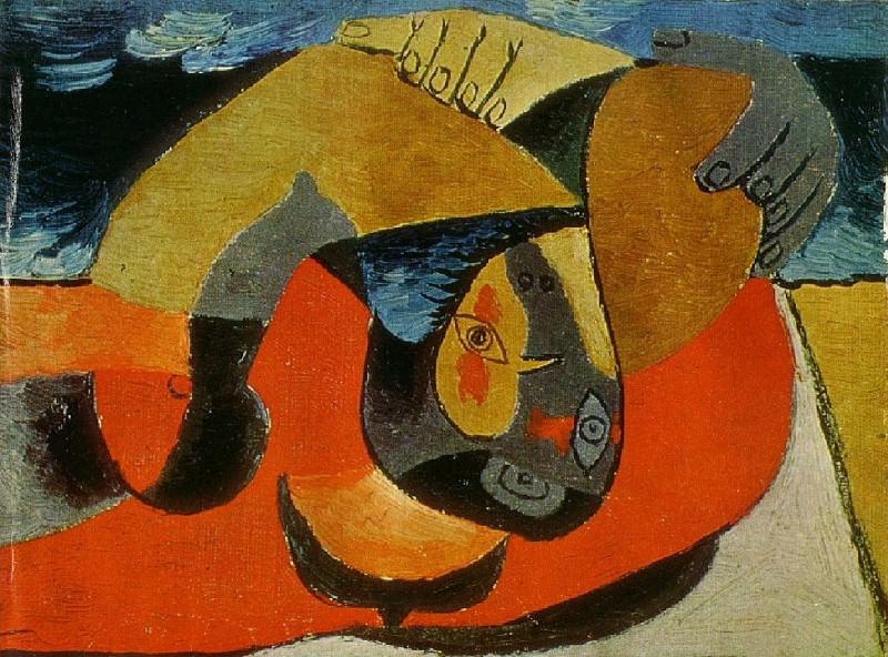 1929 Femme allongВe1. Pablo Picasso (1881-1973) Period of creation: 1919-1930