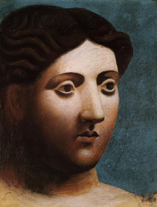 1921 TИte de femme2. Pablo Picasso (1881-1973) Period of creation: 1919-1930