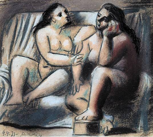 1921 Deux femmes nues assises. Pablo Picasso (1881-1973) Period of creation: 1919-1930