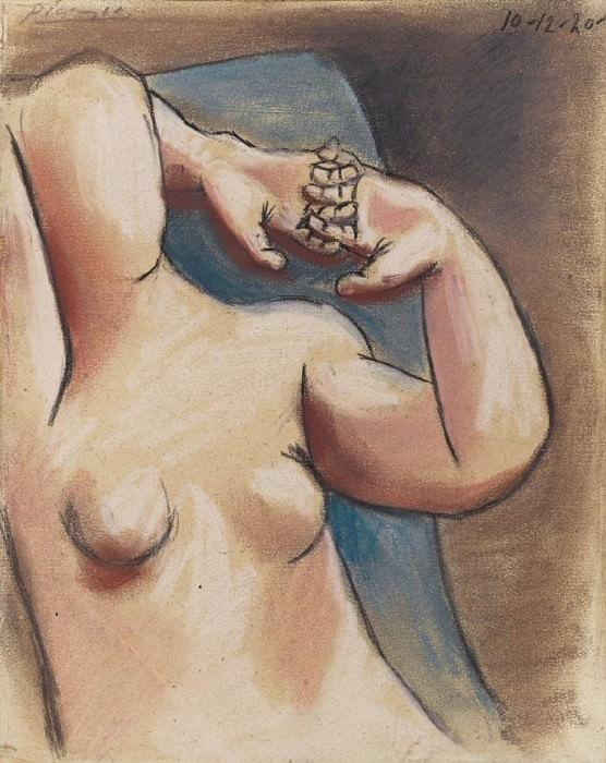 1920 Buste de femme nue, les mains croisВes. Пабло Пикассо (1881-1973) Период: 1919-1930