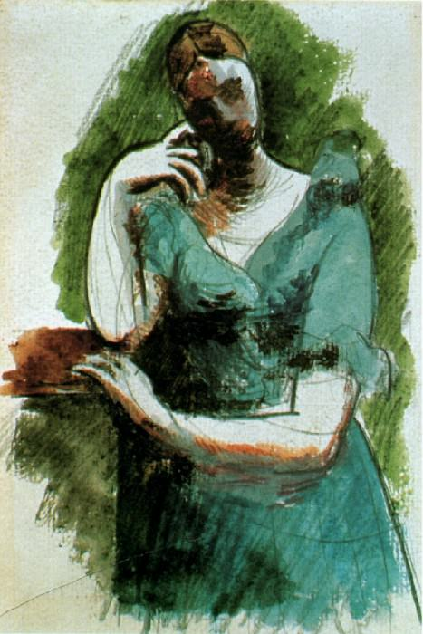 1919 Femme debout accoudВe (Olga). Pablo Picasso (1881-1973) Period of creation: 1919-1930