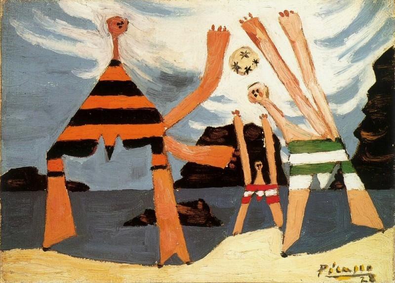 1928 Baigneuses au ballon3. Pablo Picasso (1881-1973) Period of creation: 1919-1930