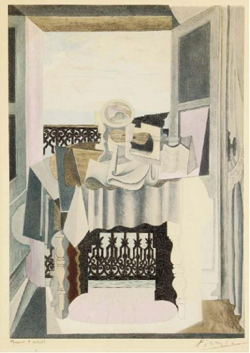 1920 La table devant la fenИtre. Пабло Пикассо (1881-1973) Период: 1919-1930