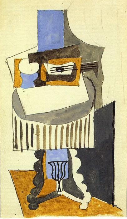 1919 Nature morte sur un guВridon devant une fenИtre ouverte. Пабло Пикассо (1881-1973) Период: 1919-1930