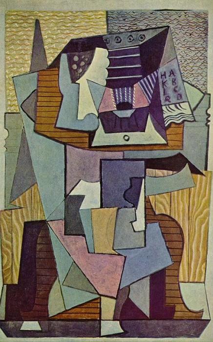 1919 Nature morte sur un guВridon (La table). Pablo Picasso (1881-1973) Period of creation: 1919-1930