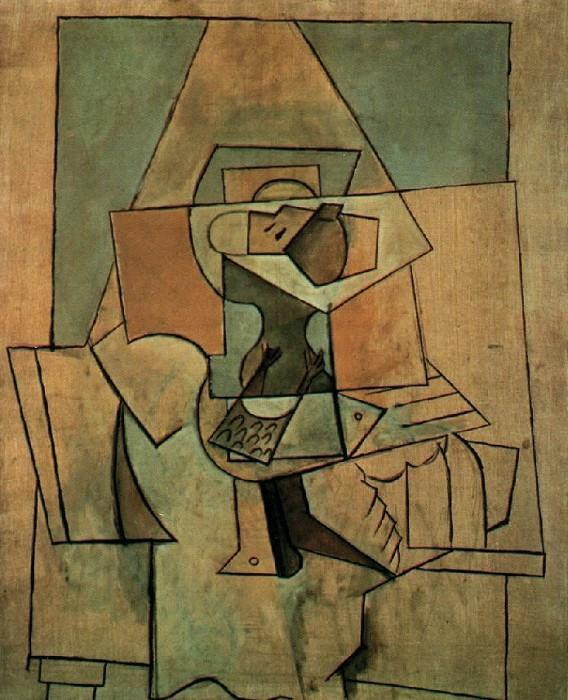 1919 Pigeons et compotier sur une table. Пабло Пикассо (1881-1973) Период: 1919-1930