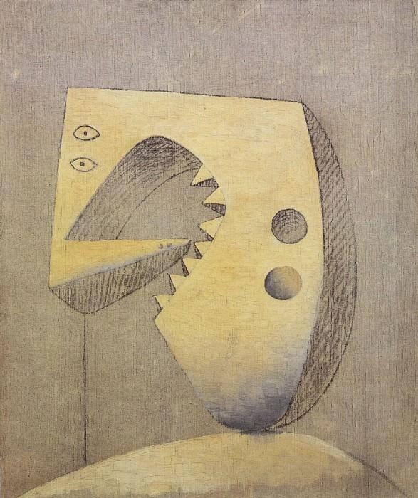 1929 Visage. Pablo Picasso (1881-1973) Period of creation: 1919-1930 (TИte)