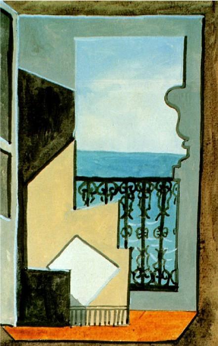 1919 Balcon avec vue sur mer. Пабло Пикассо (1881-1973) Период: 1919-1930