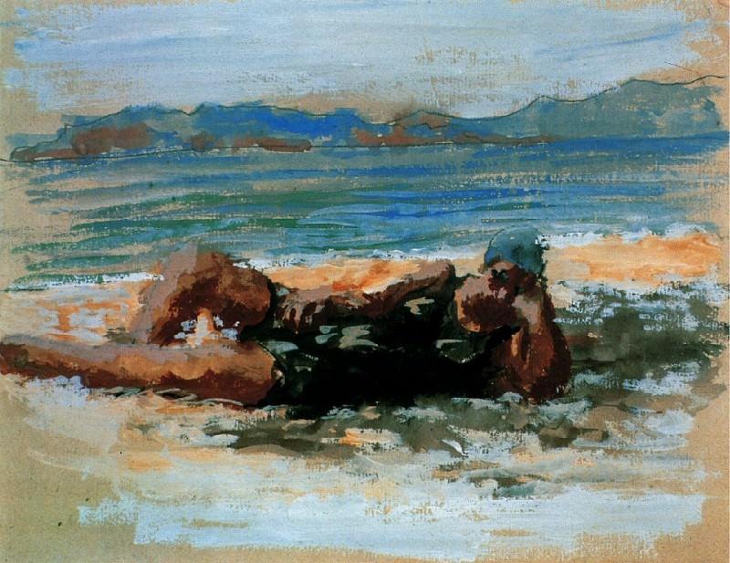 1920 Baigneuse sur la plage. Пабло Пикассо (1881-1973) Период: 1919-1930