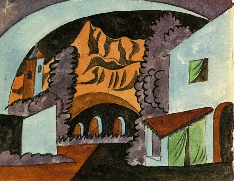 1919 Projet pour le dВcor (Le Tricorne)1. Pablo Picasso (1881-1973) Period of creation: 1919-1930