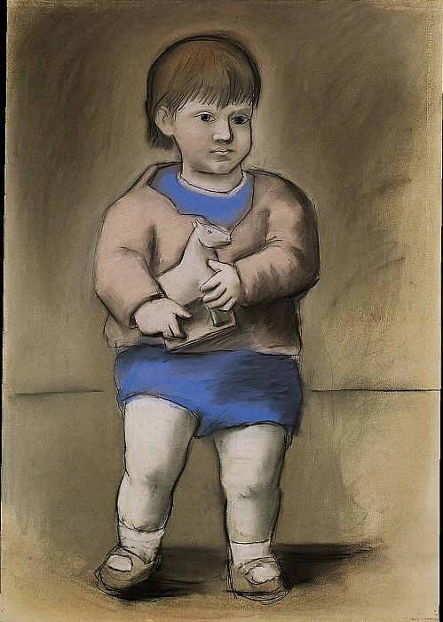 1923 Enfant au cheval de bois (Paulo). Pablo Picasso (1881-1973) Period of creation: 1919-1930 (Lenfant au jouet)
