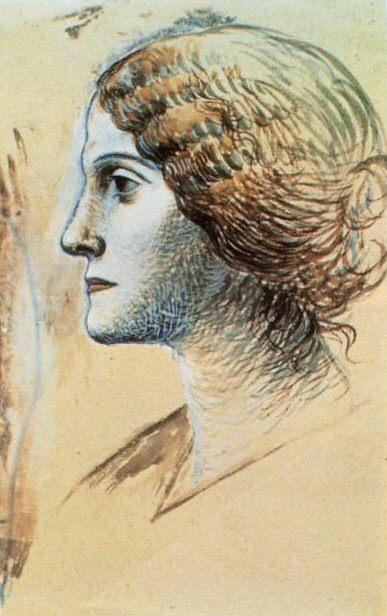 1919 Portrait dOlga1. Пабло Пикассо (1881-1973) Период: 1919-1930