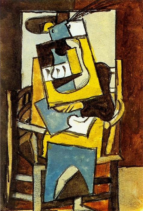 1919 Femme au chapeau Е plumes. Pablo Picasso (1881-1973) Period of creation: 1919-1930
