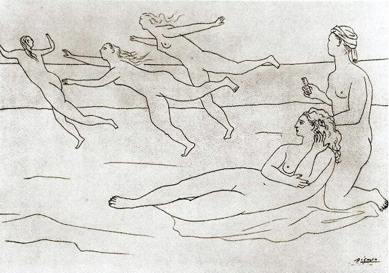 1921 Baigneuses1. Pablo Picasso (1881-1973) Period of creation: 1919-1930
