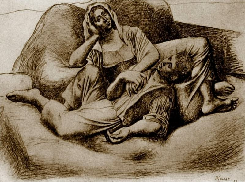1919 La sieste (Les moissonneurs). Pablo Picasso (1881-1973) Period of creation: 1919-1930