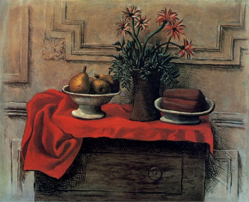 1919 Nature morte sur la commode. Pablo Picasso (1881-1973) Period of creation: 1919-1930